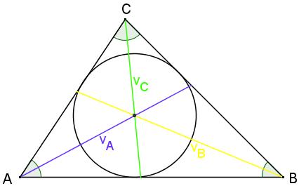 medianen i trekant